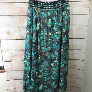Womens Maaji Maxi Skirt Green Large
